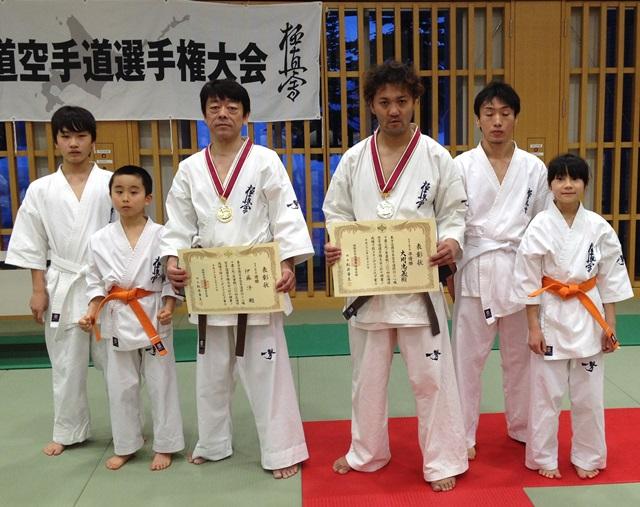 2014北海道空手道選手権大会入賞者
